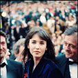 Daniel Auteuil, Isabelle Adjani et Patrice Chéreau lors de la montée des marches du film La Reine Margot au Festival de Cannes 1994