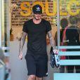 David Beckham à la sortie de son cours de gym à Brentwood, le 23 octobre 2014