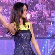 """Leila, grande gagnant de Secret Story 8, était invitée sur le plateau de """"Labès"""" (émission tunisienne), le 18 octobre 2014."""