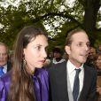 Andrea Casiraghi et sa femme Tatiana Santo Domingo au mariage de Maria Theresia von Thurn und Taxis et Hugo Wilson à Tutzing, en Bavière, le 13 septembre 2014. Le couple attend son second enfant pour février 2015.