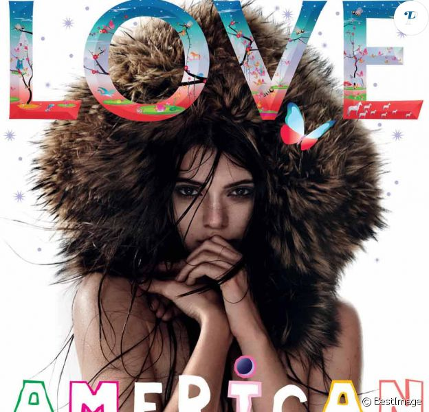 Kendall Jenner en couverture du magazine Love - Les stars se dénudent en une des magazines people  Celebrities who bare it all on covers of magazines...01/11/2014 -
