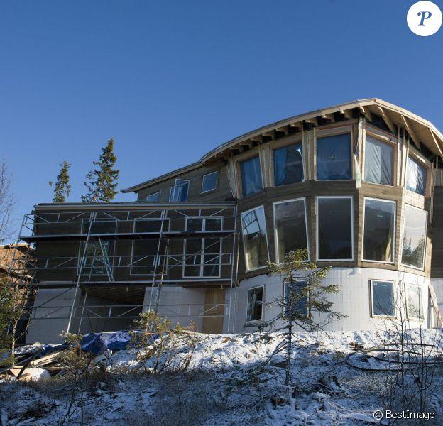 Zlatan Ibrahimovic se fait construire une magnifique demeure du côté de Åre, en Suède, photo prise le 31 octobre 2014