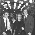 Claude Lelouch, Annie Girardot et Yves Montand lors de la 22e nuit du cinéma à Paris en 1967