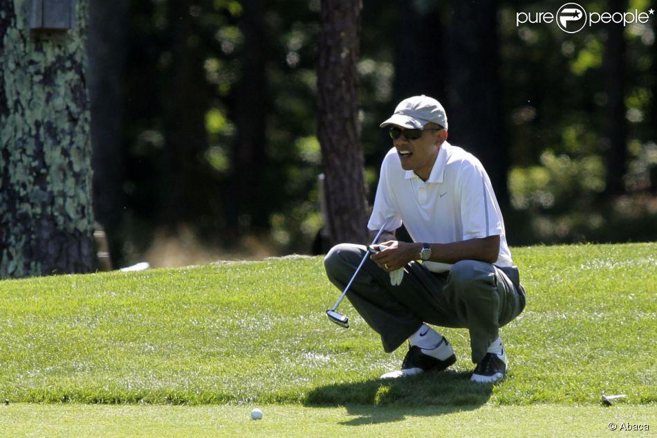 Barack Obama à Oak Bluffs, le 9 août 2014.