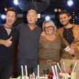 """Semi-Exclusif - Stéphane Rousseau, Franck Dubosc, Valérie Damidot et Christophe Beaugrand - Franck Dubosc fête son anniversaire avec ses amis et ses fans au """"Réservoir"""" à Paris, le 7 novembre 2014."""