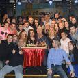 """Semi-Exclusif - Franck Dubosc fête son anniversaire avec ses amis et ses fans au """"Réservoir"""" à Paris, le 7 novembre 2014."""