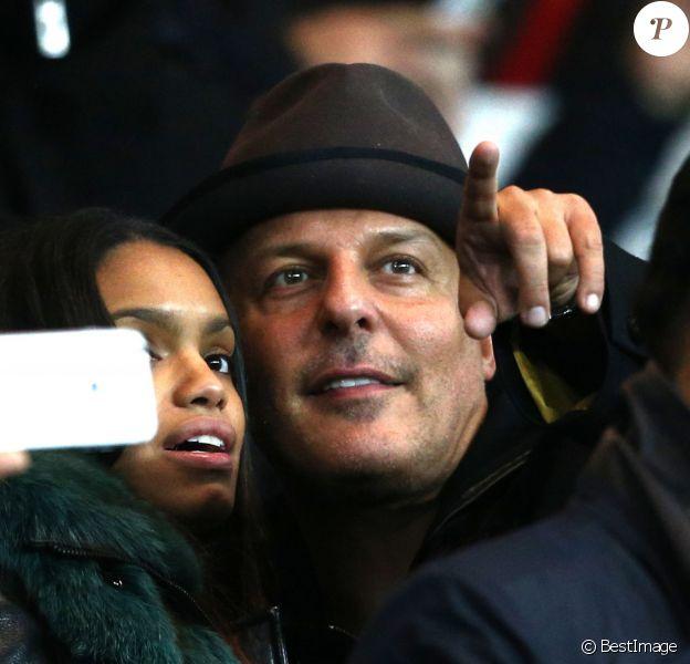 Jean Roch et sa compagne Anaïs Monory au match entre le PSG et Marseille au Parc des Princes à Paris le 9 novembre 2014.