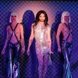 Conchita Wurst sur scène lors la première de son show au Crazy Horse à Paris, le 9 novembre 2014.