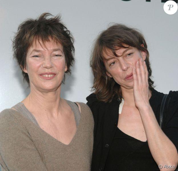 Jane Birkin et sa fille Kate Barry à Paris le 23 mai 2007