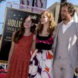 Mackenzie Foy, Jessica Chastain, Matthew McConaughey et Anne Hathaway sur le Hollywood Walk of Fame à Los Angeles, le 17 novembre 2014.