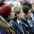 Pierre, Jean et Louis Sarkozy au meeting de leur père Nicolas Sakozy à Boulogne-Billancourt le 25 novembre 2014