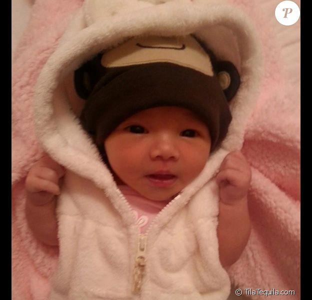 Les premiers clichés d'Isabella, la fille de Tila Tequila, âgée de 9 jours - novembre 2014