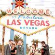 Pamela Anderson au mariage de Dan Mathews et Jack Ryan à Las Vegas. Le 27 novembre 2014.