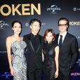 "Angelina Jolie, Melody Ishihara, Miyavi Ishihara et Brad Pitt - Première du film ""Unbroken"" à Sydney en Australie le 17 novembre 2014."