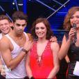 Nathalie Péchalat et Christophe Licata sur une samba brésilienne dans la finale de Danse avec les stars 5, sur TF1, le samedi 29 novembre 2014