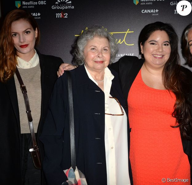 Luna Picoli-Truffaut, Madeleine Morgenstern, Olivia Truffaut-Wong, Laura Truffaut - Visite privée de l'exposition François Truffaut à la cinémathèque de Paris, le 6 octobre 2014.