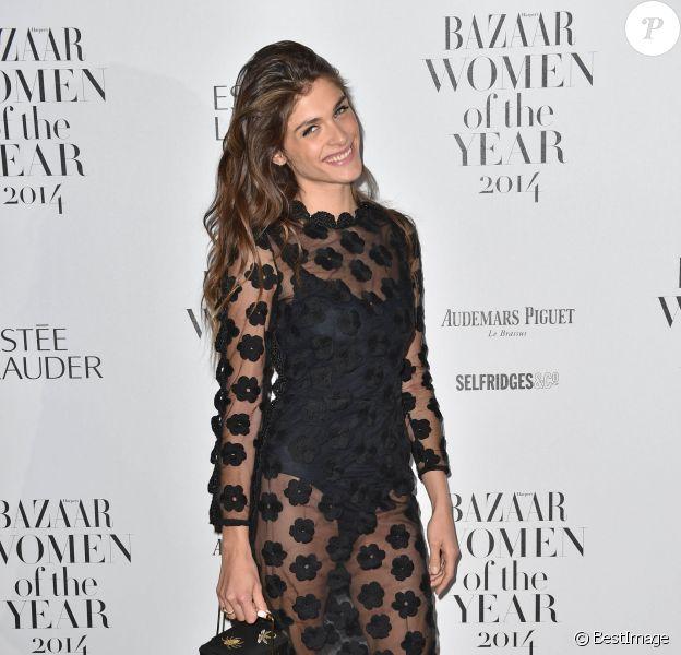 """Elisa Sednaoui - Soirée """"Harper's Bazaar Women Of The Year"""" à Londres le 4 novembre 2014"""