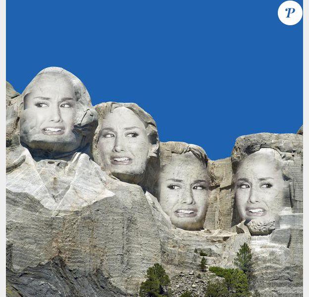 Ariana Grande remplace les présidents américains sur le Mont Rushmore.