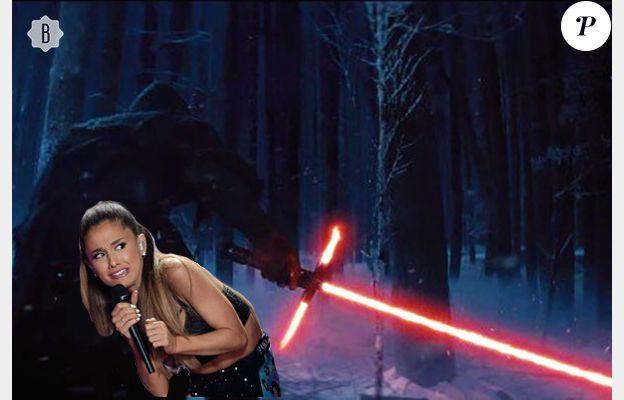 Ariana Grande a peur du nouveau sabre laser de Star Wars VII.