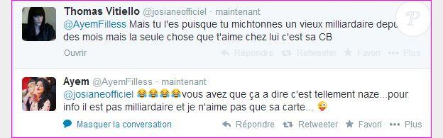 Thomas Vitiello clashe Ayem Nour sur Twitter en mai 2014.