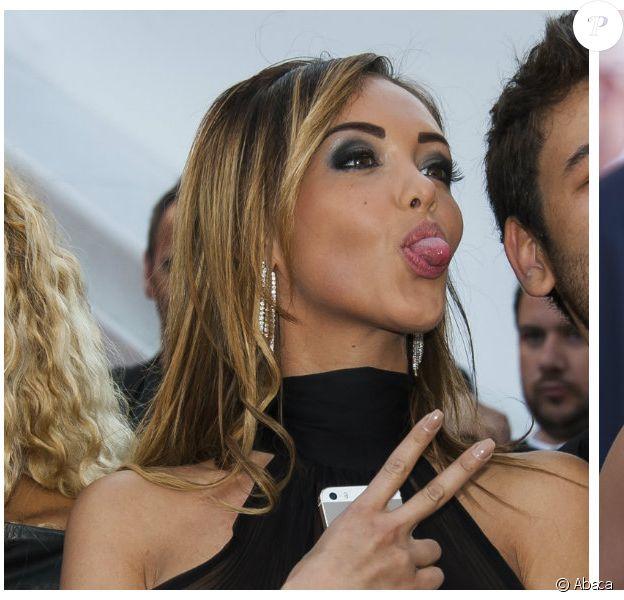 Montage d'images d'Ayem Nour et Nabilla au Festival de Cannes 2014. ©Abaca Press