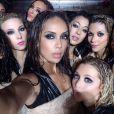 Stephanie Moseley et les danseuses de l'émission Hit the Floor (diffusée sur Vh1). Novembre 2014.