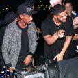 Drake aux platines à la PPP Muzik Mansion, nom de la résidence éphémère de Pigalle lors de la foire Art Basel Miami Beach. Le 6 décembre 2014.