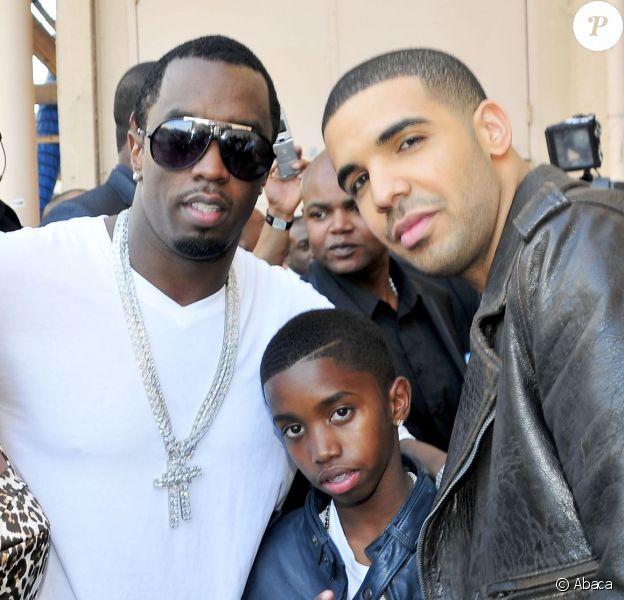 Free, Diddy, son fils Christian et Drake aux BET Awards 2010 à Los Angeles.