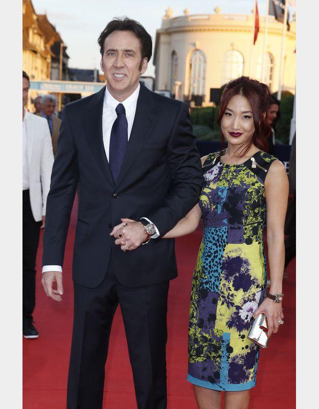 Nicolas Cage et Alice Kim à la première du film Joe lors du 39e Festival de Deauville le 2 septembre 2013. ©BESTIMAGE