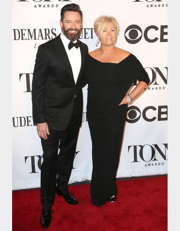 Hugh Jackman et sa femme Deborra-Lee Furness à la 68ème cérémonie des Tony Awards à New York le 8 juin 2014. ©BESTIMAGE