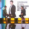 Stéphane Plaza et Daphné Bürki, sur le plateau du Tube sur Canal+, le samedi 13 décembre 2014.