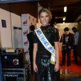 Camille Cerf (Miss France 2014), dans les coulisses des NRJ Music Awards 2014 à Cannes, le samedi 13 décembre 2014.