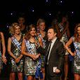 Julien Lepers anime l'élection de Miss Nationale 2015 au Royal Variétés à Arras. C