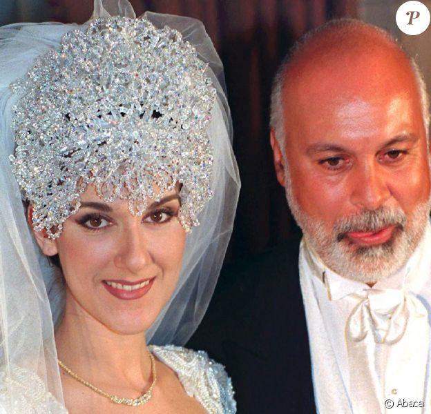 Mariage de Céline Dion et René Angélil à Montréal, le 17 décembre 1994.