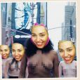Miley Cyrus, photomontage sur son compte Instagram, décembre 2014