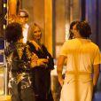 Exclusif - Heidi Klum et son compagnon Vito Schnabel se rendent à une soirée sur un yacht à Saint-Barthélemy, le 29 décembre 2014