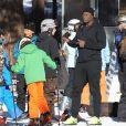Seal et ses enfants Lou et Henry au Mammoth Mountain Resort à Mammoth, le 29 décembre 2014