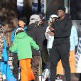Seal et ses enfants Lou et Henry au Mammoth Mountain Resort à Mammoth, le 29 décembre 2014.