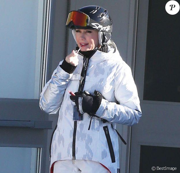 Gwen Stefani se refait une beauté au Mammoth Mountain Resort à Mammoth, le 29 décembre 2014.