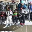 Gwen Stefani, son mari Gavin Rossdale et leurs enfants font du ski en famille au Mammoth Mountain Resort à Mammoth, le 29 décembre dernier