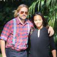 Zoe Saldana, encore enceinte, et Marco Perego à Los Angeles le 9 novembre 2014.