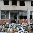 Les locaux incendiés de  Charlie Hebdo , le 2 novembre 2011.