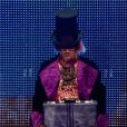 Tadam, un faux candidat incarné par Alex Goude, dans Incroyable Talent 2015, dans l'émission du mardi 23 décembre 2014.