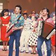 """Info : Claude Framboisier des """"Musclés"""" et du """"Club Dorothée"""" est décédé dimanche matin à l'âge de 64 ans d'un cancer du pancréas dans un hôpital du sud de la France. Sur cette photo, les Musclés en 1989."""