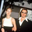 Brad Pitt et Gwyneth Paltrow lors des Golden Globes awards en 1996