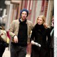 Gwyneth Paltrow et Chris Martin à New York le 21 février 2003