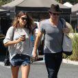 Nikki Reed et son petit-ami Ian Somerhalder au Farmers Market à Studio City, le 10 août 2014.