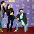 """Paul Lefevre, Fanny Valette et Antoine Gouy pour le film """"A Love You"""" - 3e journée du 18e festival international du film de comédie de l'Alpe d'Huez, le 16 janvier 2015."""