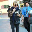 Fergie et son compagnon Josh Duhamel vont déjeuner avec des amis à Santa Monica, le 17 janvier 2015.