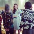 Kate Middleton, enceinte de 6 mois, rencontre des participants d'un cours de tai chi au complexe sportif de la Kensington Aldridge Academy, le 19 janvier 2015
